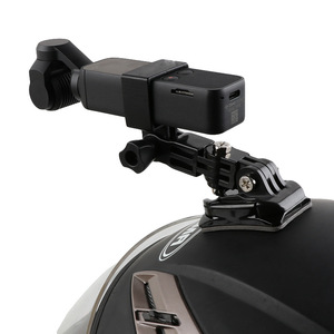 Image 3 - Motorcycle helmet hat mount selfie stick arm holder & 3M glue base for dji osmo pocket / osmo pocket 2 gimbal camera Accessories