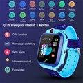 Kinder Smart Uhren Gps Gsm Locator Touchscreen Tracker Sos Lbs Basisstation/beidou Positionierung Uhr Für Kinder kinder