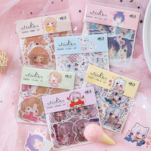 40PCS Cute Cartoon Anime Girls Scrapbook sprouts Sticker DIY Decorative Children Stickers Bookmark Stationery naklejki