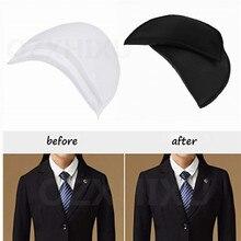 Popular 2 pares de almohadillas de hombro acolchadas suaves de espuma de cifrado almohadillas de hombro para Blazer camiseta accesorios de costura para ropa 7ACC43-2