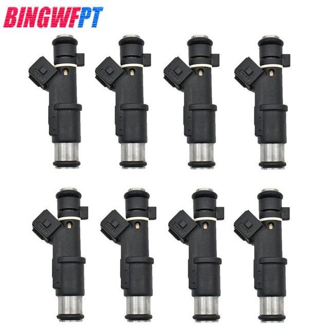 8 unids/set de alta calidad los inyectores de combustible 1984E2 01F003A 1984 E2 348004 de 75116328, 0280156328 para Peugeot 206 experto Citroen 2,0/16 V