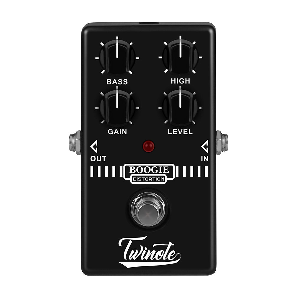 Twinote Boogie Dist Guitar Distortion Effect Pedal Analog Old School Distortion Amplifier Simulator Booster Guitar Accessories
