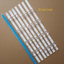 8 adet/takım yeni LED şerit için 40 TV INNOTEK DRT 4.0 DRT 3.0 A B tipi SVL400 6916L 0884A 6916L 0885A 40LF630V 40LH5300 40LX560H