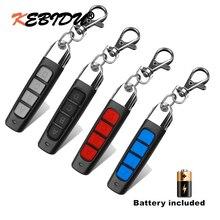 Klonen 433MHz Afstandsbediening sleutelhanger Elektrische Copy Controller Mini Draadloze Zender Schakelaar 4 Knoppen Autosleutel Fob Universele