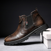 Men's Shoes in Winter of 2019 with Furry and Warm Casual Leather Shoes High Quality Leather and Warm Winter Shoes for Men