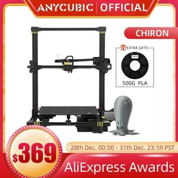 ANYCUBIC-impresora 3D Chiron con nivelación automática, extrusora de doble eje Z, Drucker