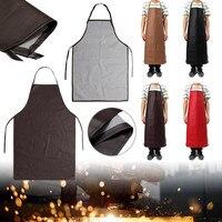 PU Leder Schweißen Schürze Ausrüstung Schweißer Schutz Wärmedämmung Schürze Küche Arbeit Tragen auf