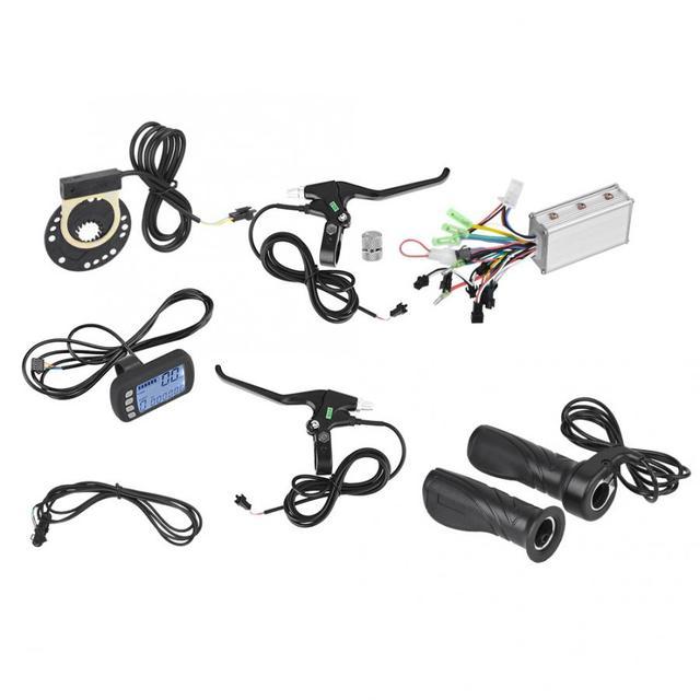Controlador para bicicleta eléctrica, 24V/36V, 250W/350W, controlador de Motor sin escobillas, Kit de Panel LCD para bicicleta eléctrica, Scooter, piezas de bricolaje