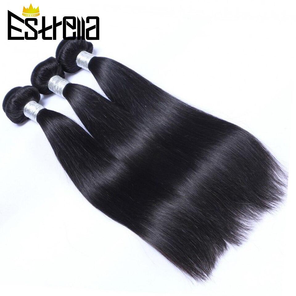 Mechones de pelo liso extensiones de pelo ondulado mechones brasileños 100% extensiones de cabello humano mechones Color Natural Remy mechones tejidos Deal 1/3/4 piezas