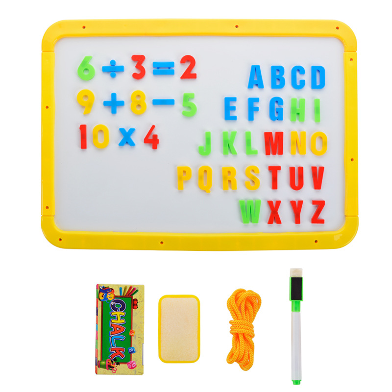 Large Size Children Baby Drawing Board Double-Sided Magnetic Small Blackboard Easel Holder Whiteboard Graffiti Writing Board