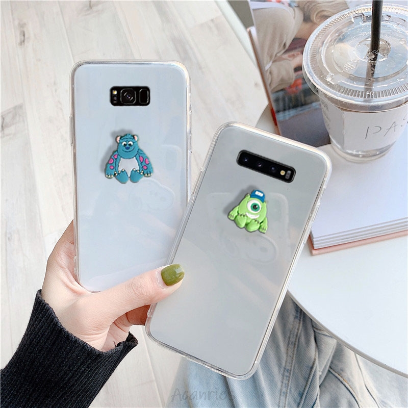 3D Cartoon Ultra Thin Clear Case On For Samsung Galaxy S10 5G S10e S9 S8 S7 S6 Edge Plus Soft Tpu Back Cover Transparent Coque