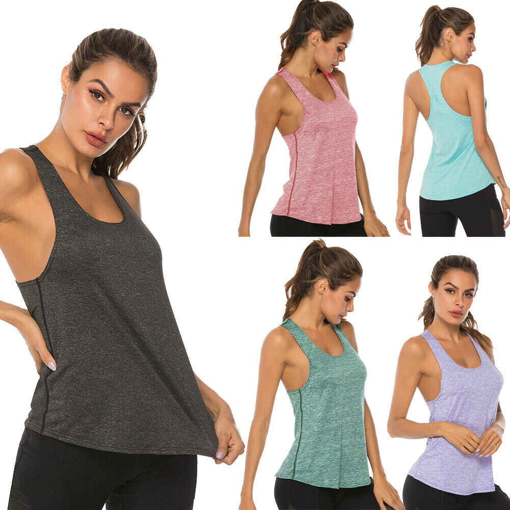 2020 New Women's Sports Hot Summer Fashion Simple Tanks Tops Camis Base  Layer Top Stretch Fitness Gym Running Jogging Clothes Tank Tops  -  AliExpress