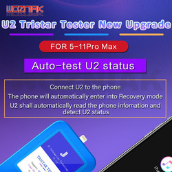 WOZNIAK JC U2 Tristar probador rápido Detector para iPhone U2 carga de culpa rápido de SN Número de serie rápido lector Detector