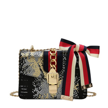 Fashion Bow Portable Small Square Bag 2019 Autumn New Lock Buckle Female Bag Tide Europe and America Wild Shoulder Messenger Bag