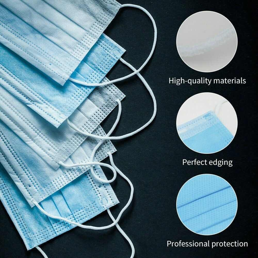 Image 3 - 50 Pcs 3 Layer Disposable Medical Protective Face Mouth Masks 