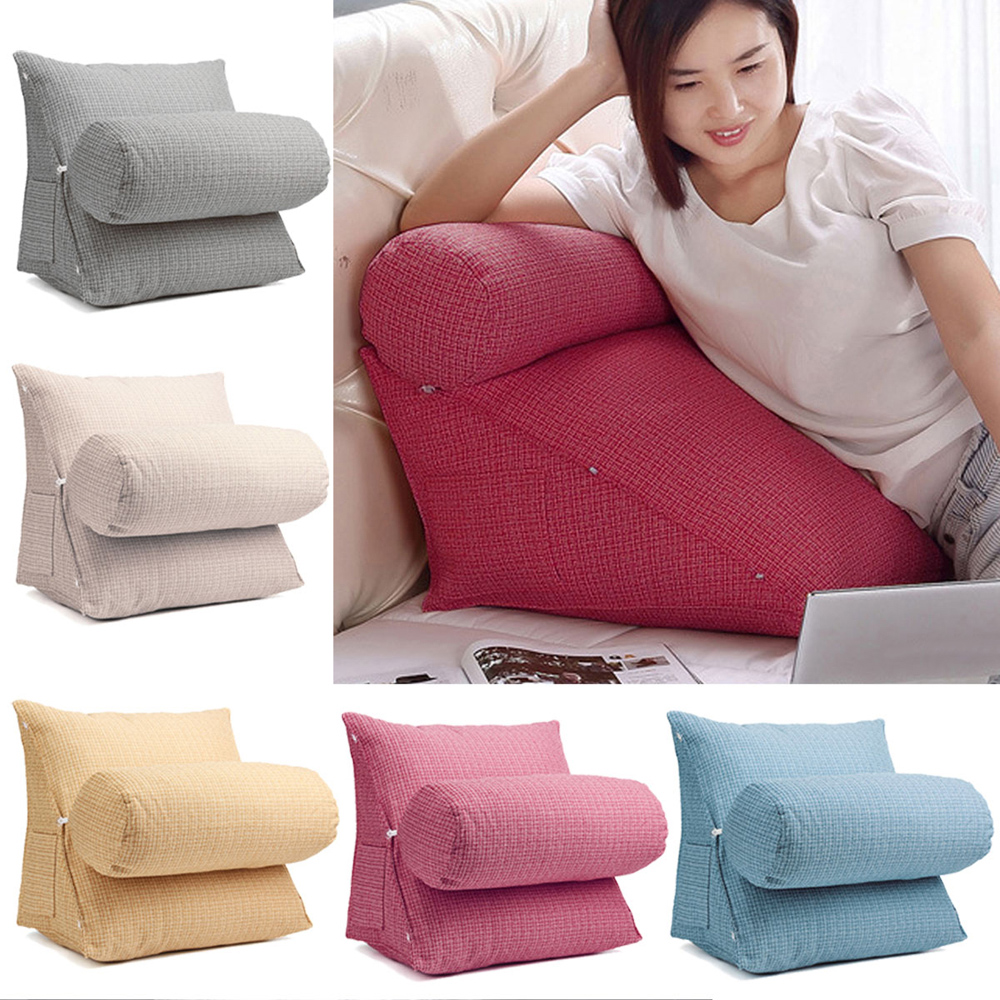 flax-soft-back-wedge-cushion-pillow-cervical-protection-cushion-home-office-adjustable-sofa-bed-pillow-chair-rest-neck-support
