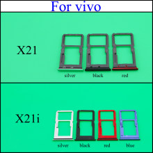 Yuxi SIM Kartu Tray untuk Vivo X21i/X21 Dual SIM Kartu SD Adaptor Holder Reader Slot Tray Papan PCB spare Part(China)
