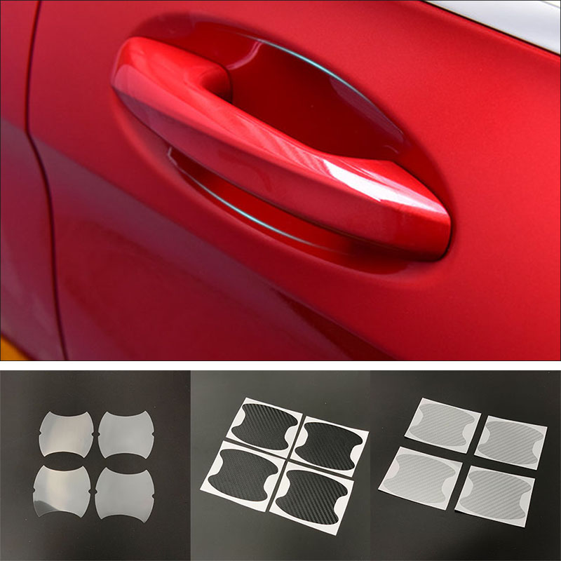 4pcs Car <font><b>Door</b></font> <font><b>Handle</b></font> Bowl Protector Sticker for <font><b>Mitsubishi</b></font> GT-PHEV XR-PHEV Delica Xpander L200 <font><b>Mirage</b></font> Samurai EX FORTIS image