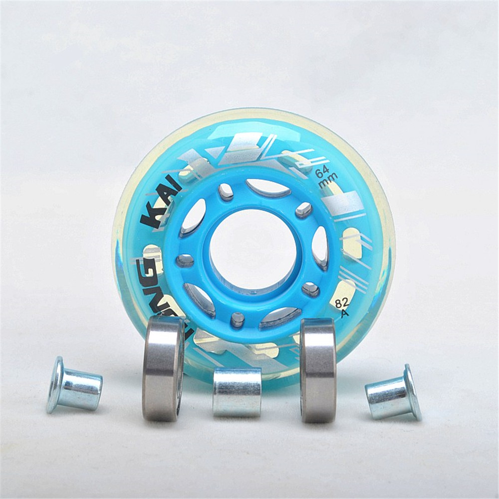 64 68 70 72mm Kids Roller Skates Shoes Skating Wheels 64mm 68mm 70mm Inline Skates Wheel Children Rolling Sneaker Bearing 8 Pcs