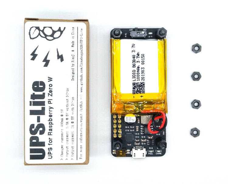 New UPS Lite UPS Power HAT Board 1000mAh Battery With Serial Port Electricity Detection For Raspberry Pi Zero Zero W