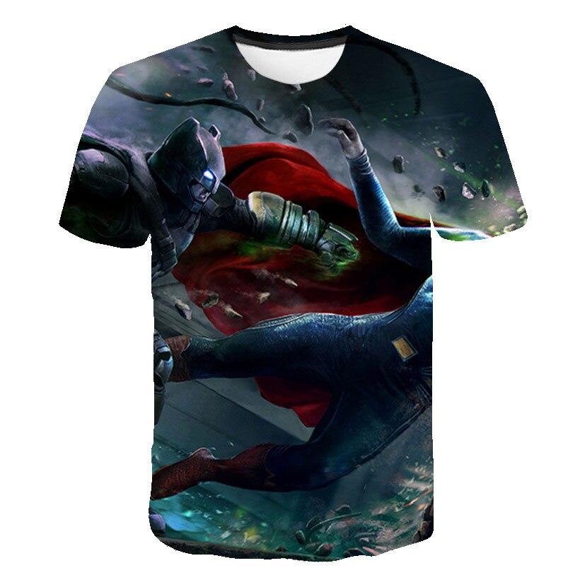 Camiseta de Superman de la película para hombre, camiseta 3D a la moda de Batman de DC, Camiseta deportiva de Rock salvaje con cuello redondo, verano 2020