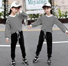 Baby Girls Clothing Sets 2020 New Spring Autumn Children Girls Clothes Suit Kids Fashion Stripe Shirt+Pants 4 5 6 7 8 9 10 Years(China)