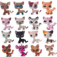 Lps pet shop pequeno cabelo curto gato brinquedos dachshund pastor cão pvc dos desenhos animados figura figura brinquedos modelo cosplay presente das crianças