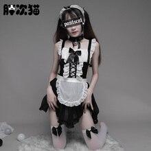 Déguisement de servante japonaise Sexy pour femmes, Costume de Cosplay pour Halloween, Costume décole pour femmes adultes