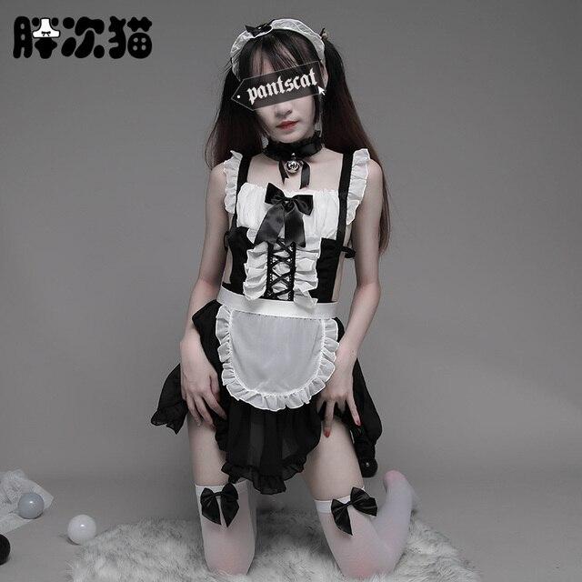 Disfraz de camarera para mujer, traje de camarera para Cosplay, Sexy, para Halloween, disfraz de camarera para adulto y mujer, disfraz escolar