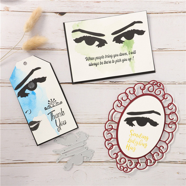 YaMinSanNiO Anger Eyes Metal Cutting Dies Eyebrow for Scrapbooking Stencils DIY Cards Decoration Embossing Die Cuts Template New 1