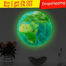 30cm Wall Stickers for Kids Room Luminous Moon Star Earth living room decoration Glow In The Dark Stars home decor door sticker