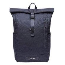Roll Top Backpack Casual vintage daypack school backpack for teenager Shoulders bag Men Women Business Travel Sport Backpack