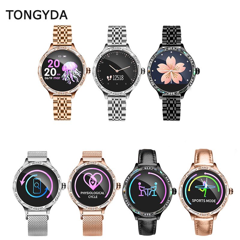 TONGYDA Fashion Women Smart Watch M9 Heart Rate Blood Pressure Monitor IP68 Waterproof Sports Smart Band For Apple IOS Android