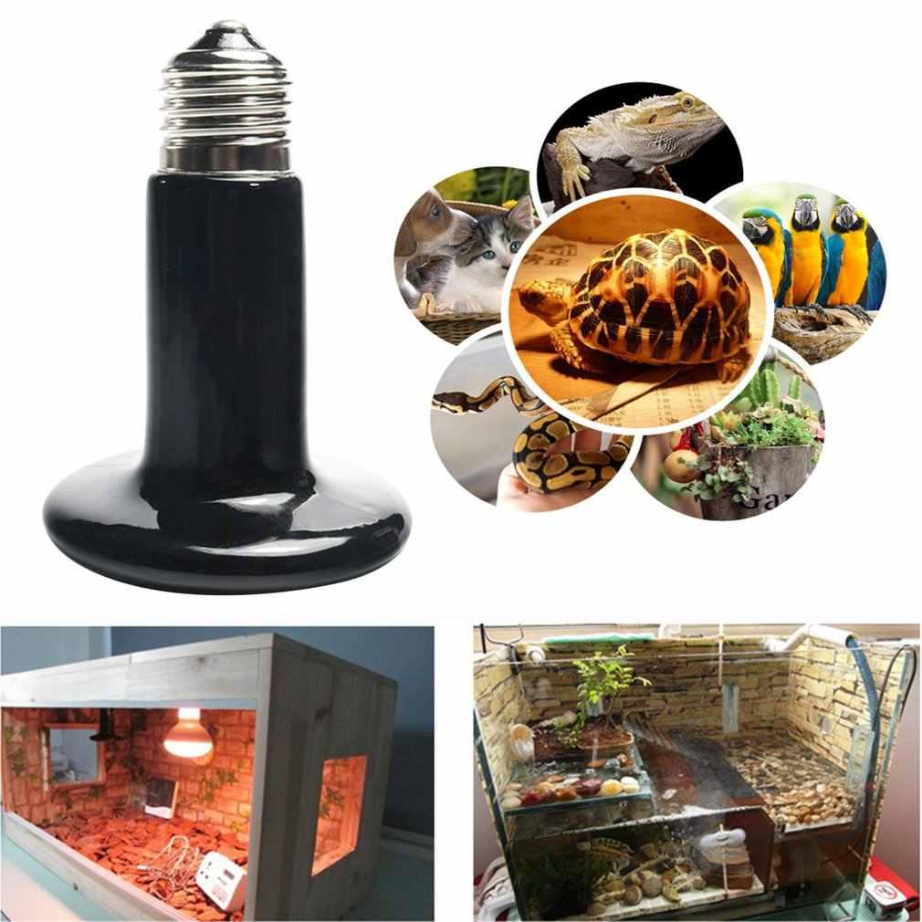 IR ısı yayıcı Basking seramik ampul 25 W/50 W/75 W/100 W/150 W /200W sürüngen kızılötesi ısıtıcı lamba Pet sürüngenler ve amfibiler