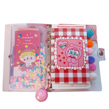 1 PC New A6 Korean ins Sequins Diary PU Shell Loose-leaf Notebook Cute Girl Doll Travel Diary Plan Notepad Sequin Notebook Diary of breeds beauty american staffordshire terrier january notebook american staffordshire terrier record log diary special memories to do list academic notepad scrapbook