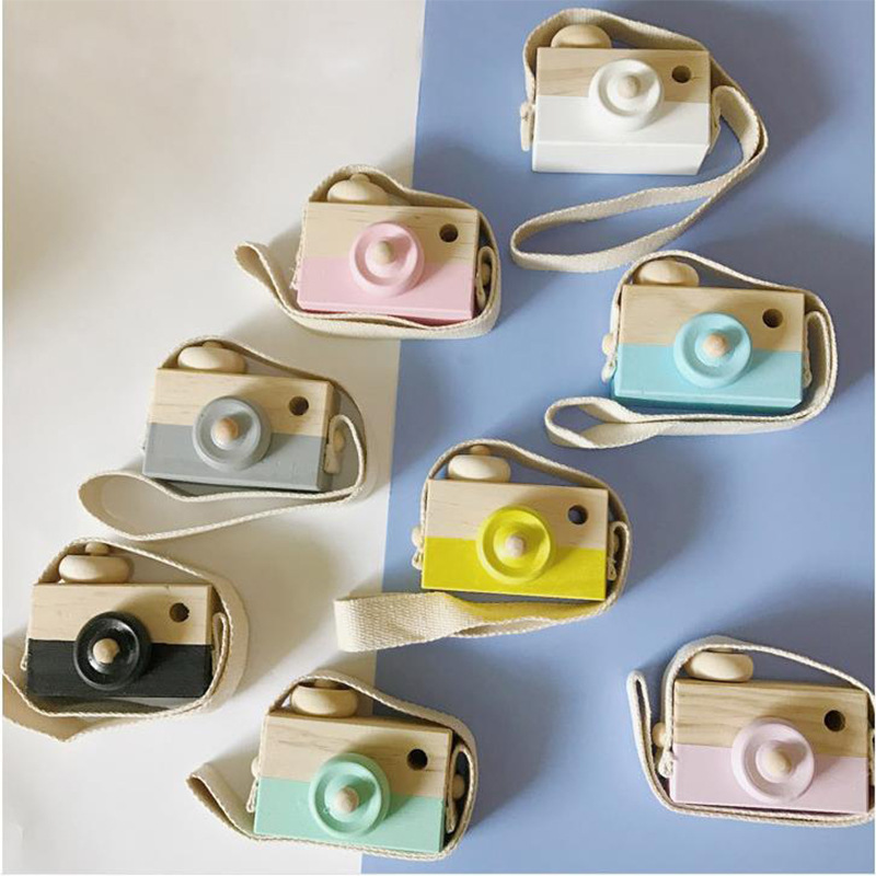 Wooden Camera Toys Kids Toys Gift Wooden Toy Kids Camera Room Decor Furnishing Articles