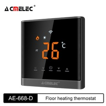 Floor Heating Adjustable Digital Thermostat  For Electric/Water/Gas Boiler Touch Screen LED Room Temperature Regulator AE-668D