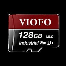 Viofo acessórios eletrônicos automotivos, viofo 128gb/64gb/32gb, profissional, cartão de memória mlc de alta resistência com adaptador