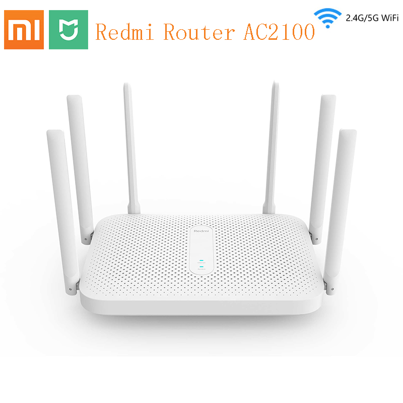 Xiaomi Red Mi Router AC2100 Gigabit 2.4G 5.0GHz Strengthen Dual-Band 2033Mbps Wireless Wifi Repeater 6 High Gain Antennas Wider