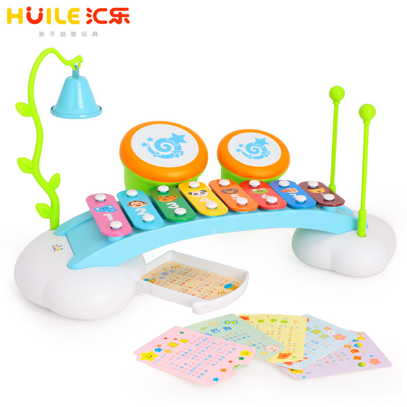 Tianyuan Toy Department Of Music 909 Music Box Hand Drums Xylophone Children Music Toy With Music Score