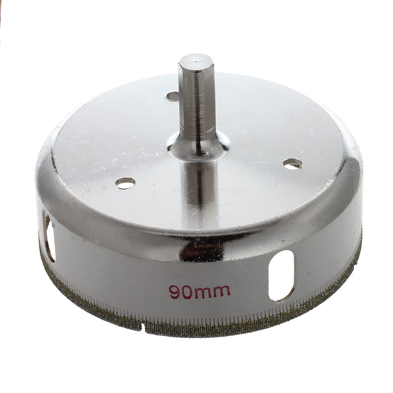 90mm Dia Diamond Coated Drill Hole Saw Cutter For Glass Ceramics
