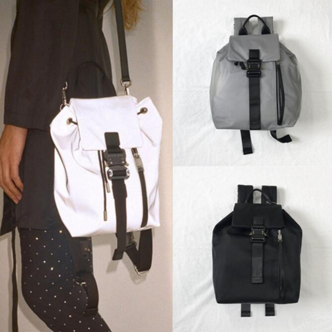 20ss Latest 3M Reflective ALYX Backpack Men Women High Quality Fashion Metal Button Functional ALYX Bag