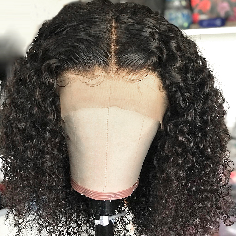 YYong 1x4&1x6 Topline Part Lace  Wig  Deep Wave HD Transparent  Short Bob Wig With Natural Hairline 4
