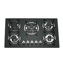 Multi-cabeça de cinco cabeças fogão a gás painel de vidro multi-olho fogão a gás de cinco olhos fabricante de fogão a fogo