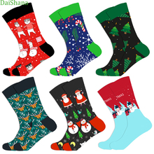 DaiShana Cotton Christmas Socks Unisex New Arrival Autumn Winter New Year Santa Claus Christmas Tree