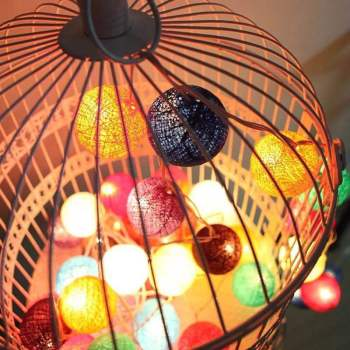 Thailand Lantern Festival lantern festival lamp string Wedding Christmas tree bedroom decorative lam