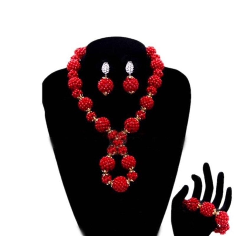 Dudo Store mariage bijoux de mariée ensembles rouge Godki luxe femmes bijoux ensembles perles africaines collier ensemble livraison gratuite 2019