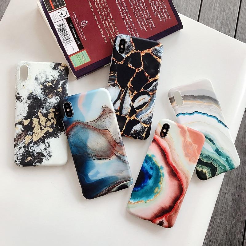 XBXcase Vintage Granite Marble Stone Case for iPhone 11 Pro Max 6 6S - Բջջային հեռախոսի պարագաներ և պահեստամասեր - Լուսանկար 6