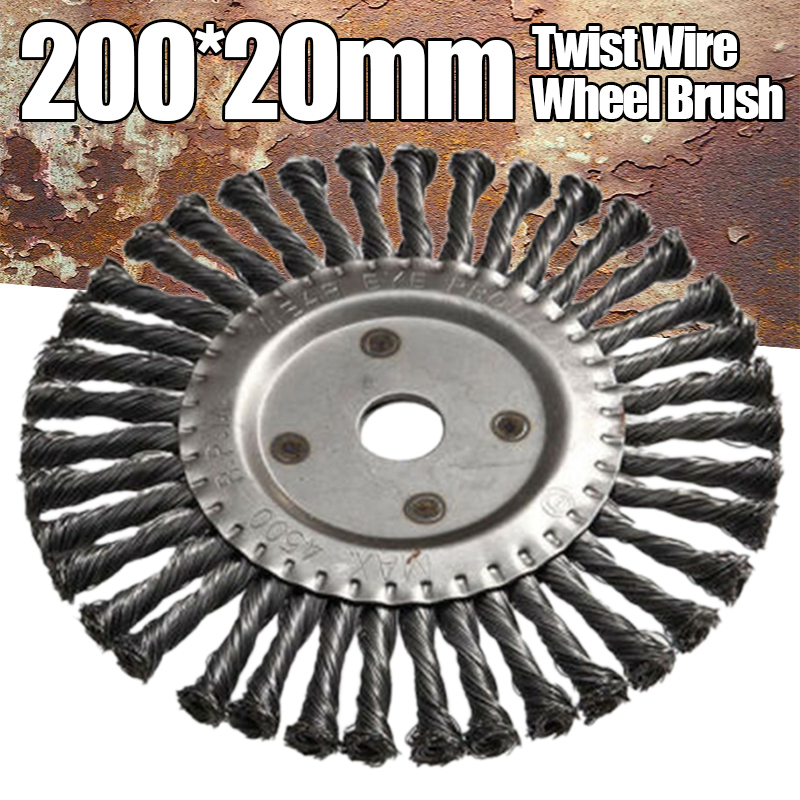 Weed Brush Cutter Flat Twist Knot Steel Wire Wheel Garden Grass Trimmer Not Easy To Deformed For Removing Weeds On Paths Curbs