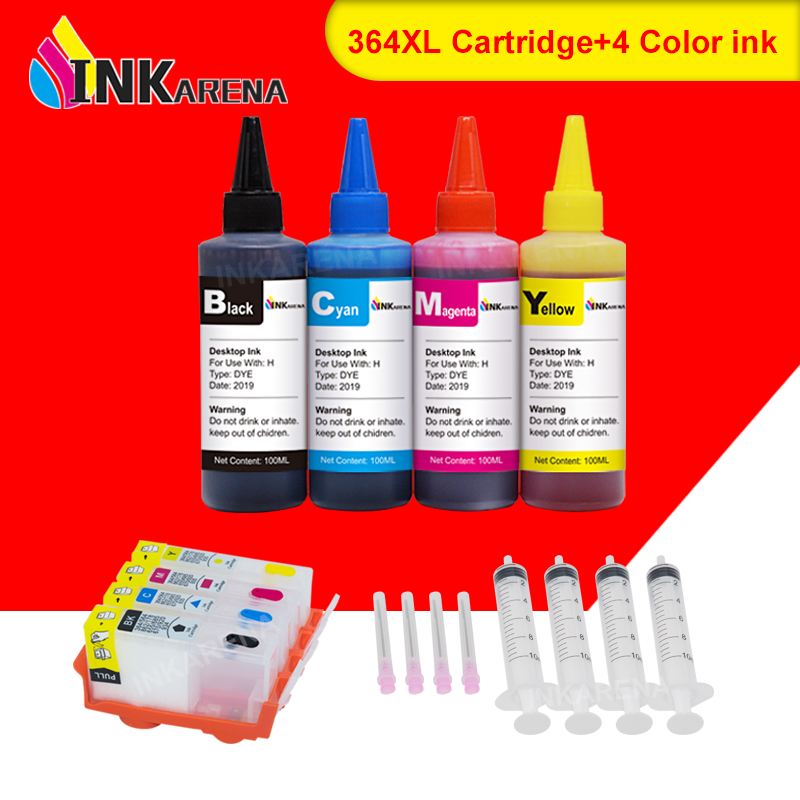 INKARENA 400ml Ink + 364XL Printer Ink Cartridges For <font><b>HP</b></font> Photosmart 6515 <font><b>6520</b></font> 6525 7510 7515 7520 B010a B110a B110c B110e B111a image